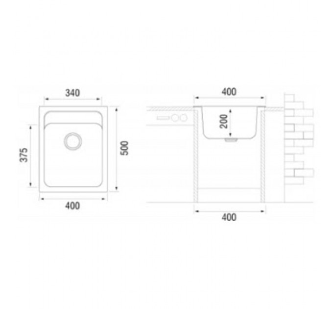 Кухонная мойка Longran CLS 400.500 - 38 Terra
