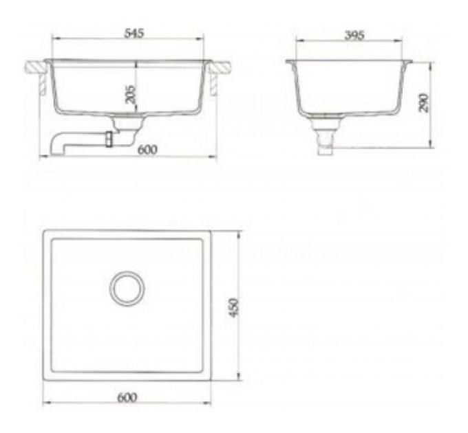 Кухонная мойка Longran CLS 600.450 - 49 Croma